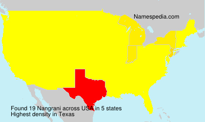 Surname Nangrani in USA