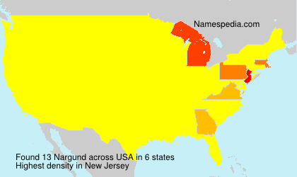 Surname Nargund in USA