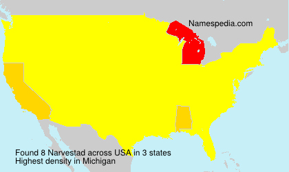 Surname Narvestad in USA