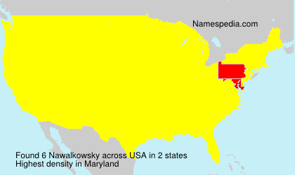 Surname Nawalkowsky in USA