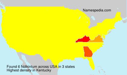 Surname Ndikintum in USA
