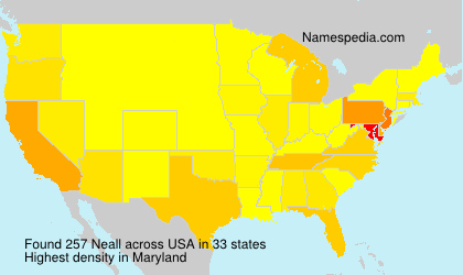 Surname Neall in USA