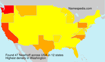 Surname Nearhoff in USA