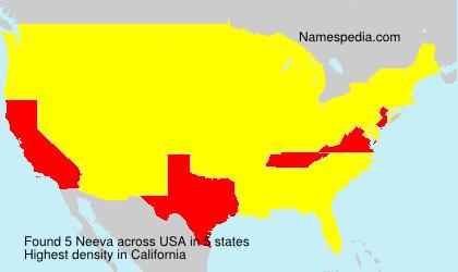 Surname Neeva in USA