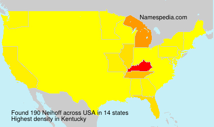 Surname Neihoff in USA
