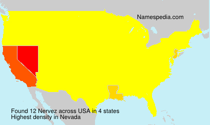 Surname Nervez in USA