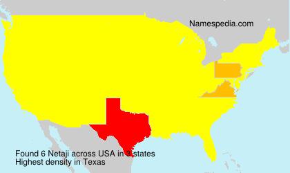 Familiennamen Netaji - USA