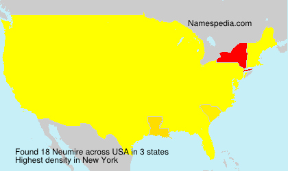 Surname Neumire in USA