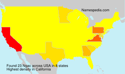 Surname Ngac in USA