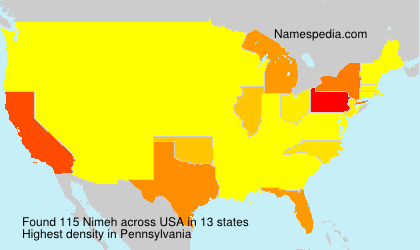Surname Nimeh in USA