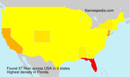 Familiennamen Nion - USA