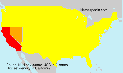 Surname Nipay in USA