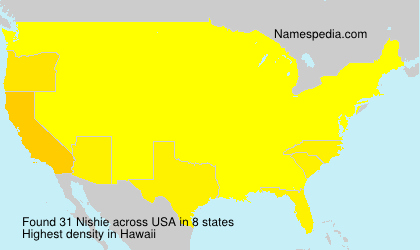 Surname Nishie in USA