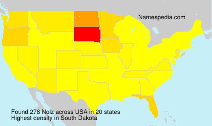 Surname Nolz in USA