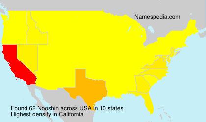 Familiennamen Nooshin - USA
