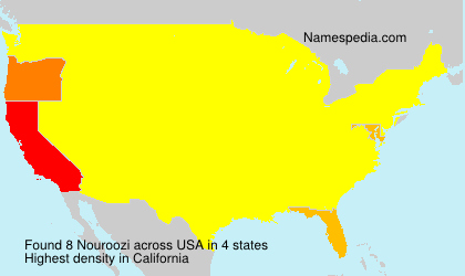 Surname Nouroozi in USA