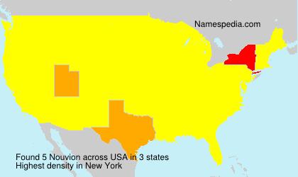 Surname Nouvion in USA