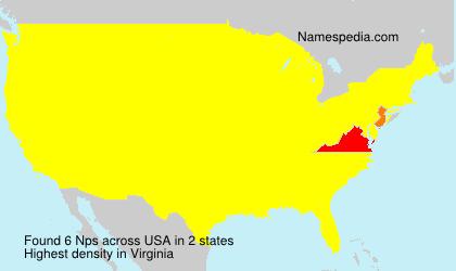 Familiennamen Nps - USA
