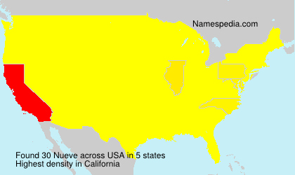 Surname Nueve in USA