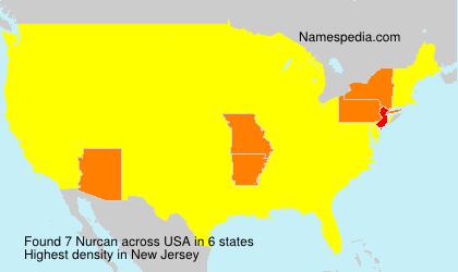 Familiennamen Nurcan - USA