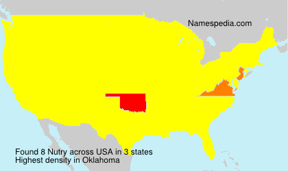 Surname Nutry in USA