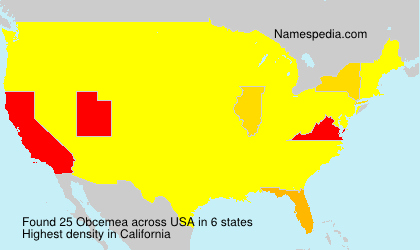 Surname Obcemea in USA