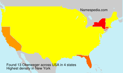 Surname Oberweger in USA