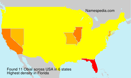 Surname Obial in USA