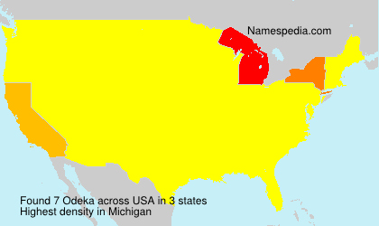 Surname Odeka in USA