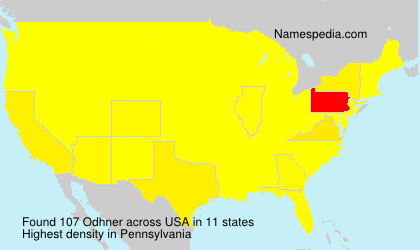 Surname Odhner in USA