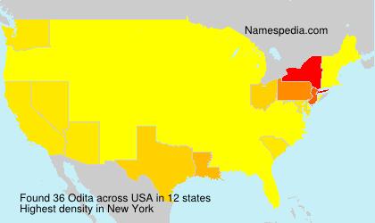 Familiennamen Odita - USA