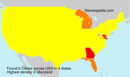 Surname Oduka in USA