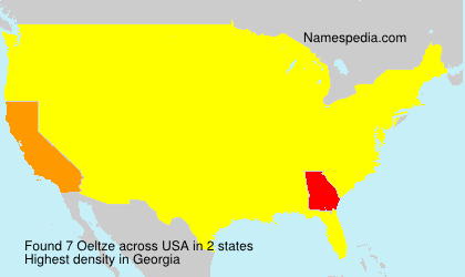 Surname Oeltze in USA