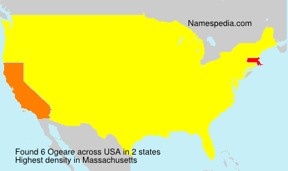 Surname Ogeare in USA