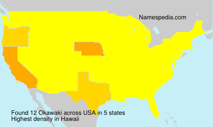 Surname Okawaki in USA