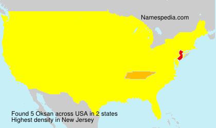 Surname Oksan in USA