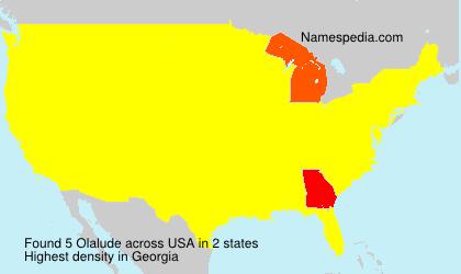 Familiennamen Olalude - USA
