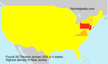 Surname Olexson in USA