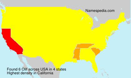 Surname Olif in USA