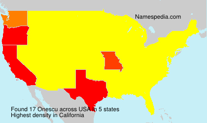 Surname Onescu in USA