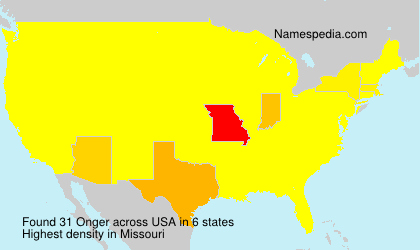 Surname Onger in USA