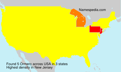 Surname Ormero in USA