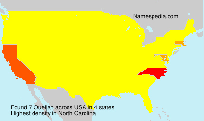Surname Oueijan in USA