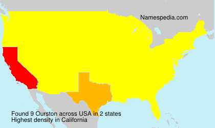 Surname Ourston in USA