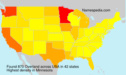 Surname Overland in USA