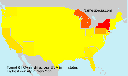 Surname Owsinski in USA