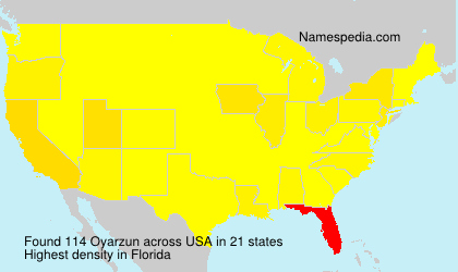 Surname Oyarzun in USA