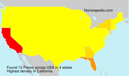 Surname Paires in USA