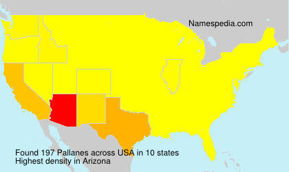 Surname Pallanes in USA