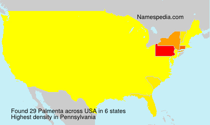 Surname Palmenta in USA